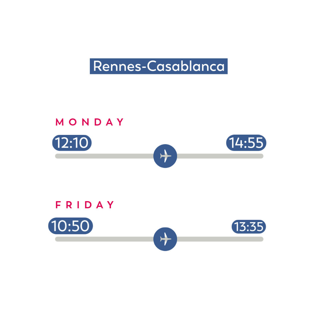 Flight-Schedules_Rennes-Casablanca