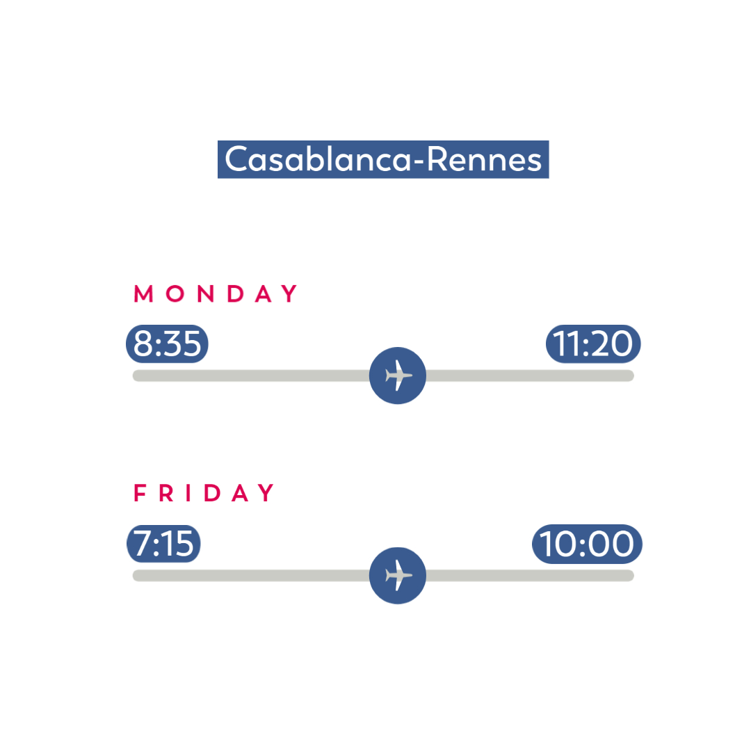 Flight-schedules_Casablanca-Rennes