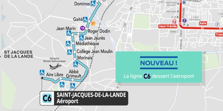 plan-ligne-c6-star-aeroport-rennes