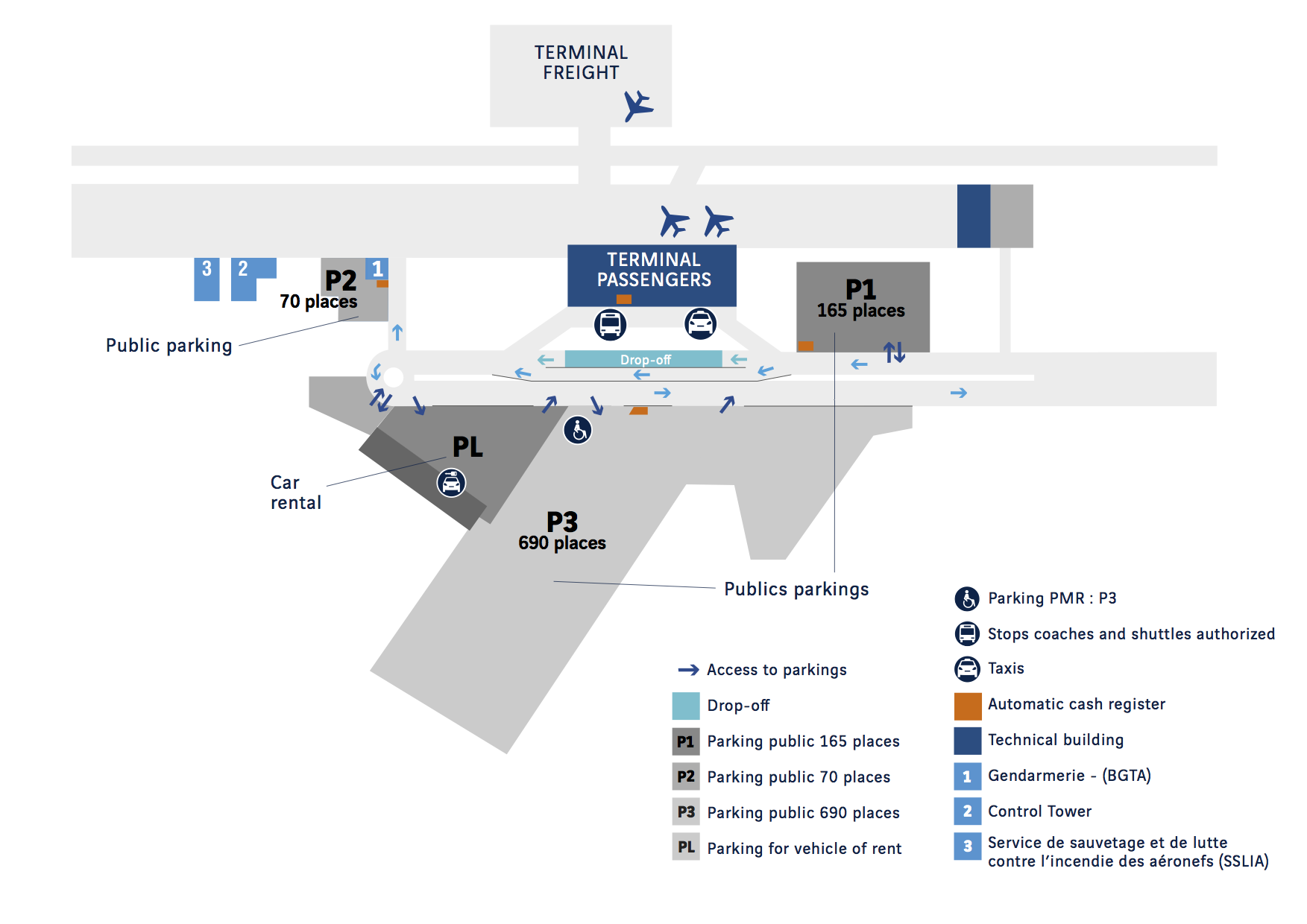 rennes-airport-map-car-park