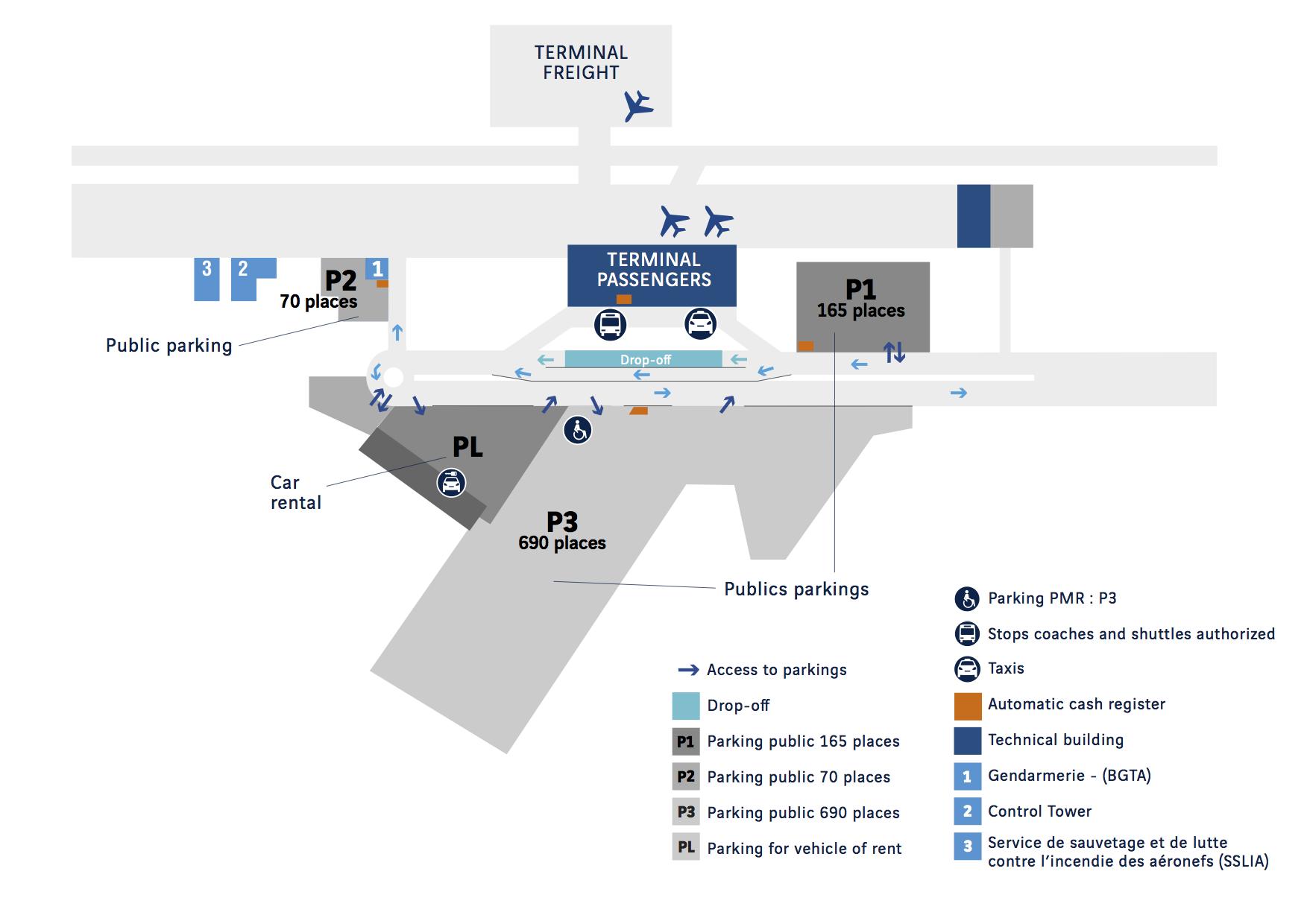 rennes-airport-map-car-park